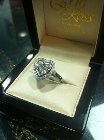 heart shape diamond ring Picture of Hatton Garden London