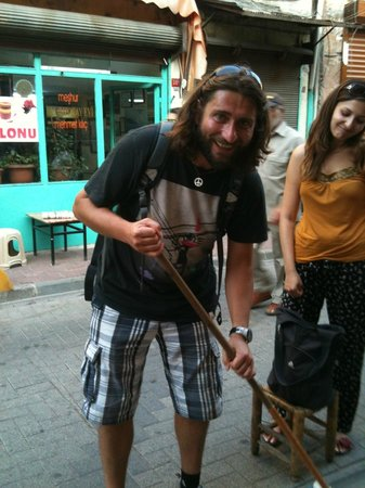 Circle Istanbul : Polat, man of many wonders, also  handy with a broom!