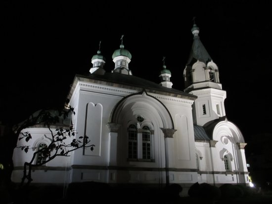 Hakodate Orthodox Church : ライトアップ