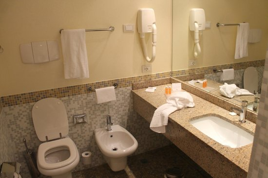 Crowne Plaza Venice East-Quarto d'Altino: WC, bidet, lavabo, grand miroir