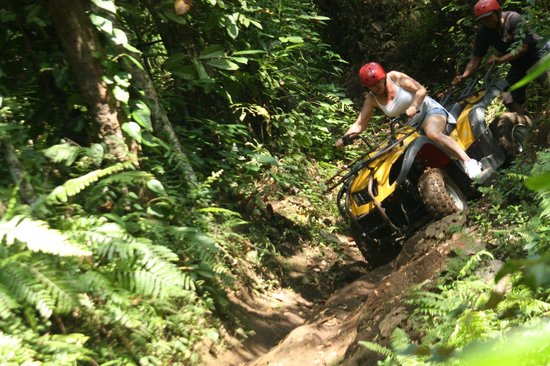 Bali Bliss Tour: One of the many steep sloppy tracks
