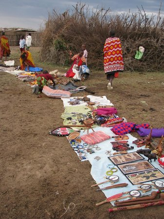 SEMADEP Camp: The 'souvenir' shop (the Maasai village market)