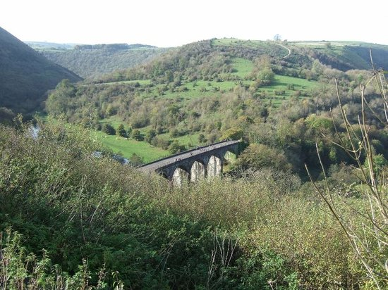 Monsal Trail: Viaduct from the Monsal Head Hotel
