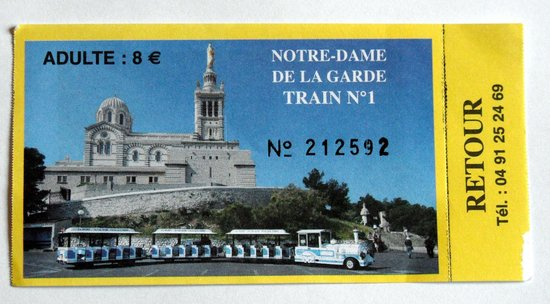 Petit Train Marseille : ticket du petit train touristique marseille