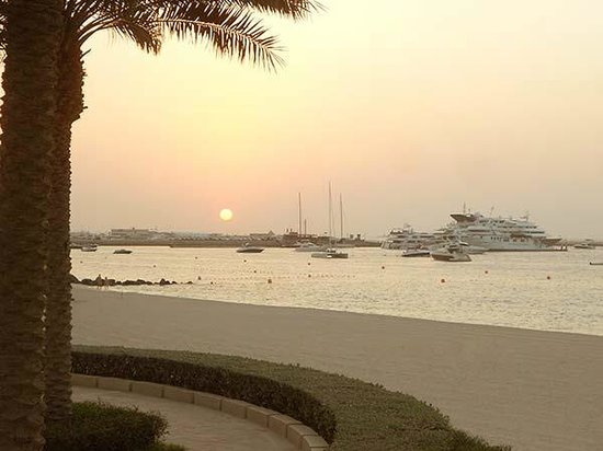 The Palace at One&Only Royal Mirage Dubai: The yachts, the sunset, the beach, the birds -- a perfect setting