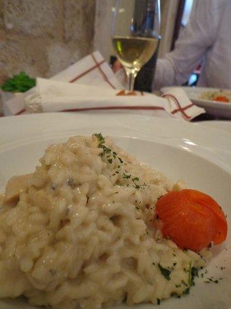 Oliva Gourmet: risoto de frango com gorgonzola, 'e a dica!