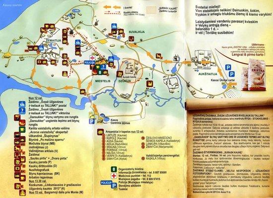 Rumsiskes Open-Air Museum: Карта парка