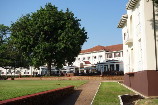 The Victoria Falls Hotel: Extensive Grounds - this is not the main entrance