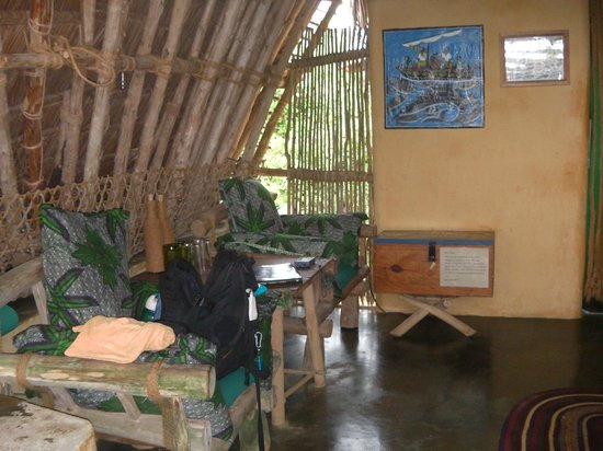Chumbe Island Coral Park: Inside the hut