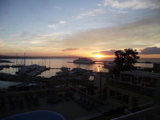 Catalonia Majorica Hotel: Sonnenaufgang vom Balkon aus gesehen