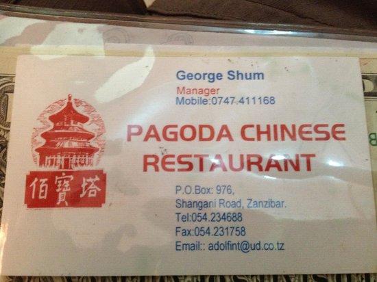 Pagoda: name card