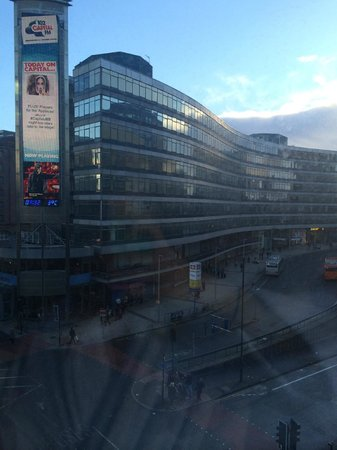 Malmaison Manchester: View from hotel, Piccadilly train station