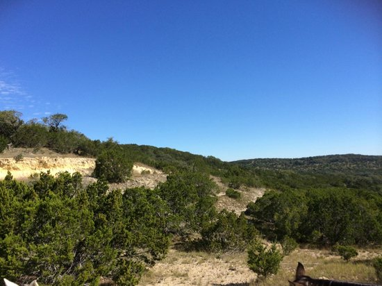 Hill Country Equestrian Lodge: View on Ride