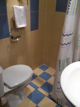 Nevskiy Central Hotel : トイレとシャワー