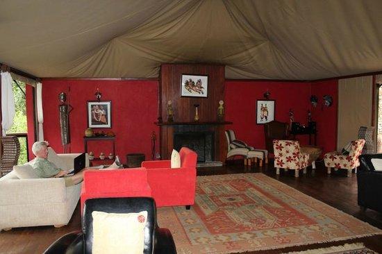 Olare Mara Kempinski Masai Mara: Main lobby with its canvas roof