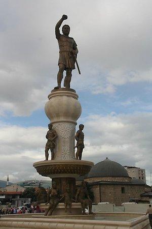 Macedonia Square: Alexander de Grote.