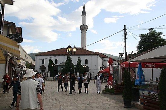 Old Bazaar, Skopje: Pleintje met een moskee.