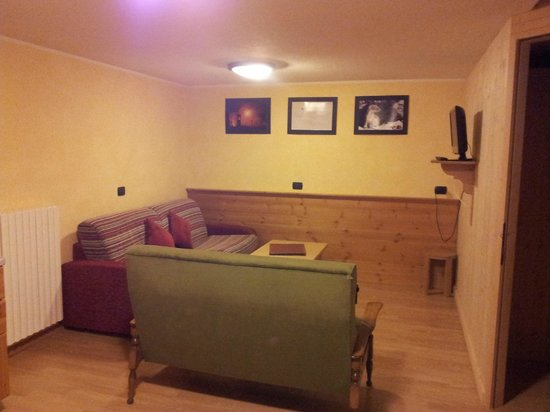 Chalet Stelle di Neve: salotto