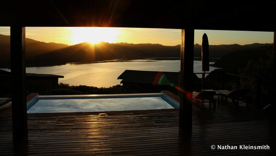 Elephant Hide of Knysna Guest Lodge: View from communal pool