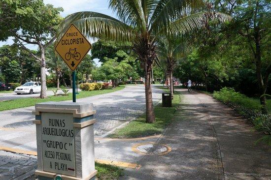 Piste Cyclable sur Paseo Xaman-Ha : Велосипедная дорожка в районе Плаякар