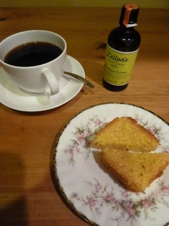 The Old Rectory: Afternoon tea & coffee with homecooked lime bitter & lemon verbena bread.
