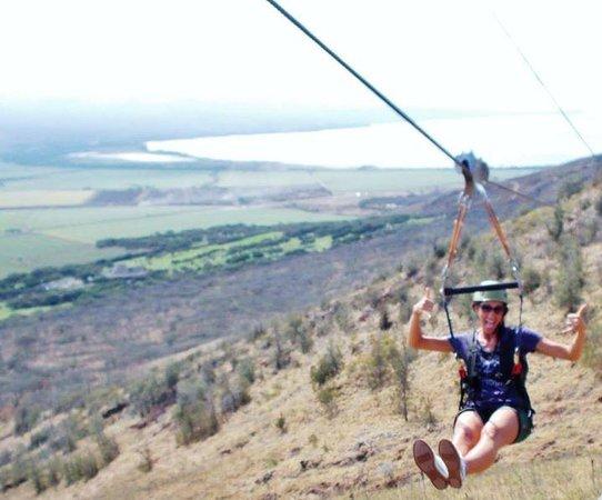 Flyin Hawaiian Zipline: Shaka!