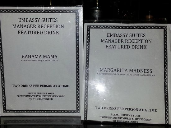 Embassy Suites by Hilton Fort Lauderdale 17th Street : Featured drinks