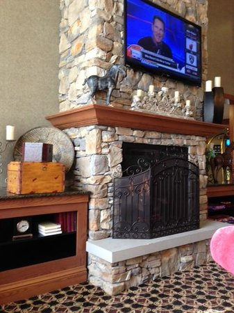 Hampton Inn & Suites Murfreesboro : Cozy fireplace