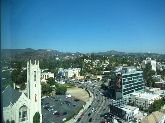 view from our room view of hollywood sign picture of. Black Bedroom Furniture Sets. Home Design Ideas