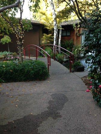 Dinah's Garden Hotel : garden area