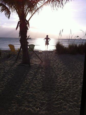 Weston's WannaB Inn: just before sunset