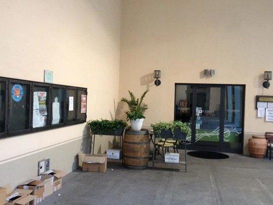 "Hotel Tiferno: Restaurant ""Le Logge"" : entrance"