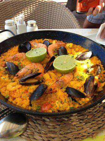 Taberna La Caña : паэлья с морепродуктами