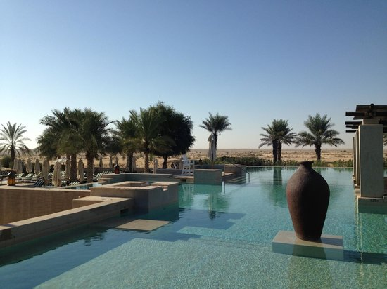 Water fountain picture of bab al shams desert resort for Pool and spa show dubai