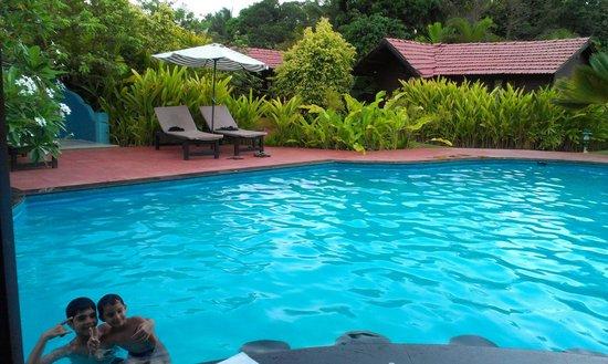 The Fern Gardenia Resort: Children enjoying their swim at The Fern Gardenia