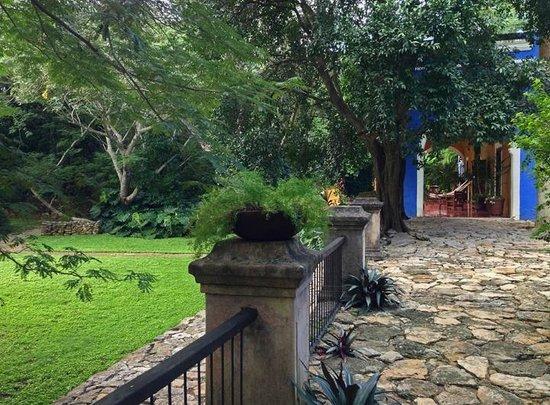 Hacienda San Jose, a Luxury Collection Hotel: Casa Patron garden, patio and terrace
