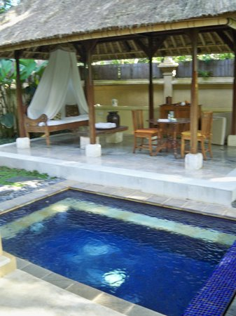 Komaneka at Monkey Forest: Villa Plunge pool and Terrace