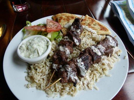 Ella Greek and Mediterranean Grill : Lamb souvlaki