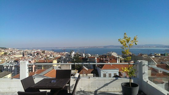 The House : The amazing view from the Terrace (with really nice drinks and a book)