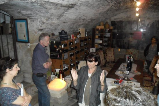 The Wine B&B: Daniele in her cave!