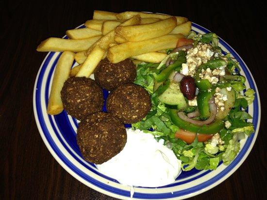 Olive's Torch: Falafel plate