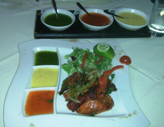 The Spice Room: Mixed starters - part of set meal for two