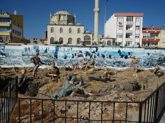 Canakkale, Tyrkia: remake of a war scene