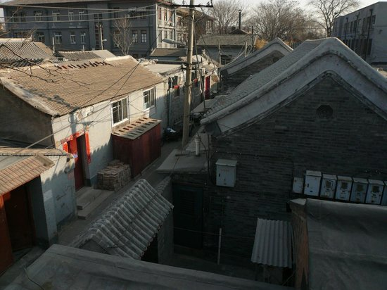 View from the roof terrace, Kellys Courtyard Bejing