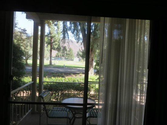 Pala Mesa Resort : View from the first floor room out to the golf course and tennis courts.