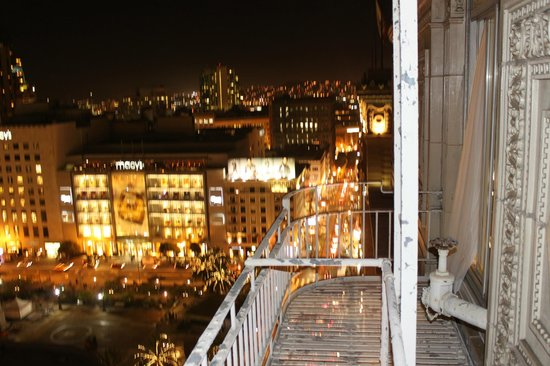 Chancellor Hotel on Union Square: View from our 15th floor fire escape..