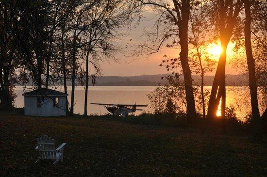 Elmhirst's Resort: la vue depuis notre logement.
