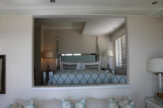 The Twelve Apostles Hotel and Spa: View of Bedroom from Suite Seating Room - Lions Head (North) Wing