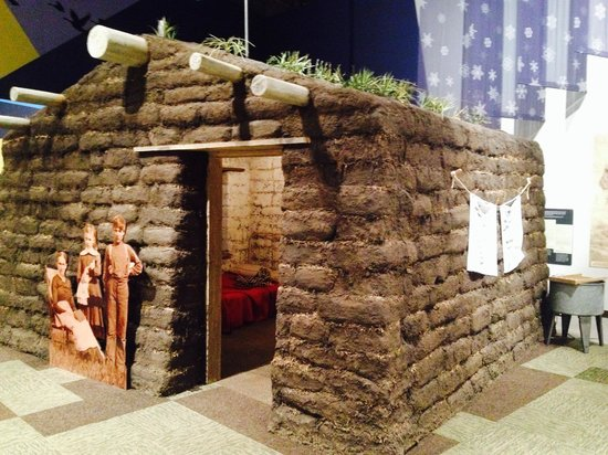 Minnesota History Center: Sod house you can go into and learn about