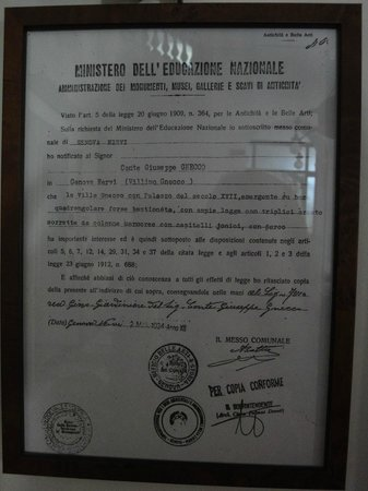 Villa Bonera : Документ